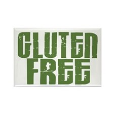 Gluten Free 1.6 (Dark Sage) Rectangle Magnet