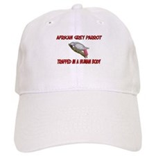 African Grey Parrot trapped in a human body Baseball Cap