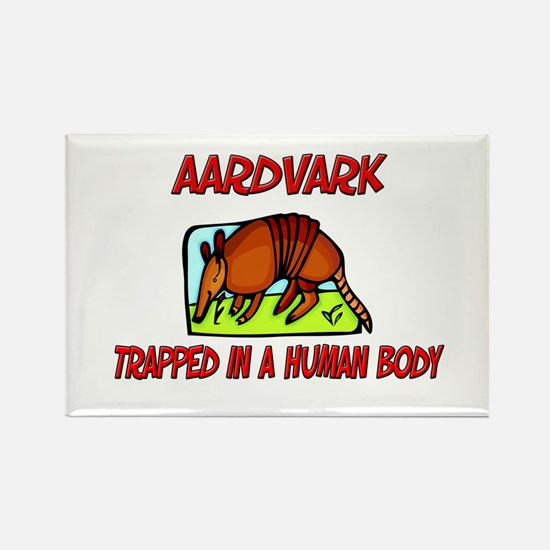 Aardvark trapped in a human body Rectangle Magnet