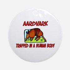 Aardvark trapped in a human body Ornament (Round)