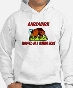 Aardvark trapped in a human body Hoodie