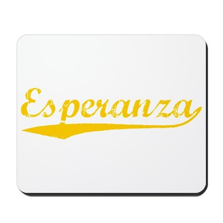Vintage Esperanza (Orange) Mousepad