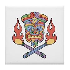 Cali Con Tiki Tile Coaster