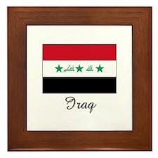 Iraq Flag Framed Tile