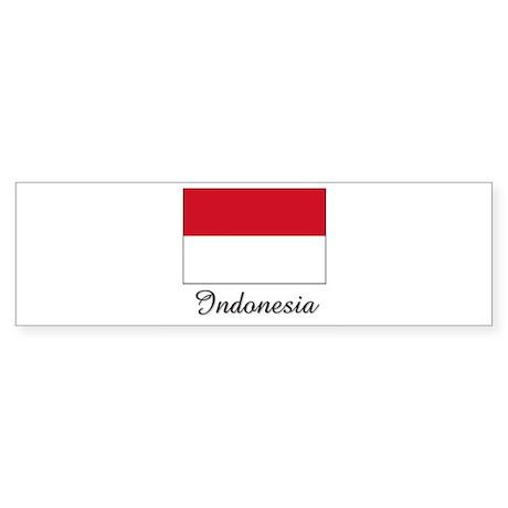 Indonesia Flag Bumper Sticker