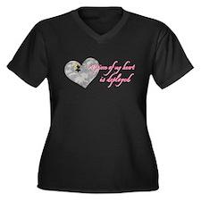 Delpoyment Women's Plus Size V-Neck Dark T-Shirt