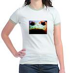 Cookie Monster eats Jr. Ringer T-Shirt