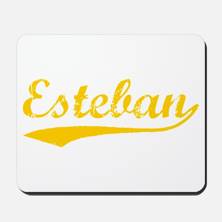 Vintage Esteban (Orange) Mousepad