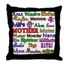 Mother in Many Languages Throw Pillow