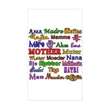 Mother in Many Languages Rectangle Decal