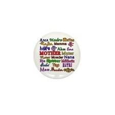 Mother in Many Languages Mini Button