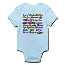 Mother in Many Languages Infant Bodysuit