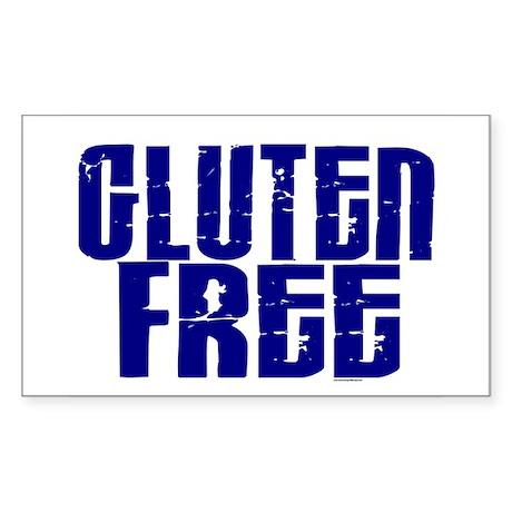 Gluten Free 1.10 (Indigo) Rectangle Sticker