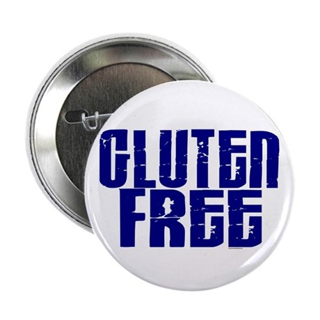 """Gluten Free 1.10 (Indigo) 2.25"""" Button (10 pack)"""