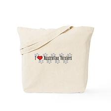 I heart Australian Terriers Tote Bag