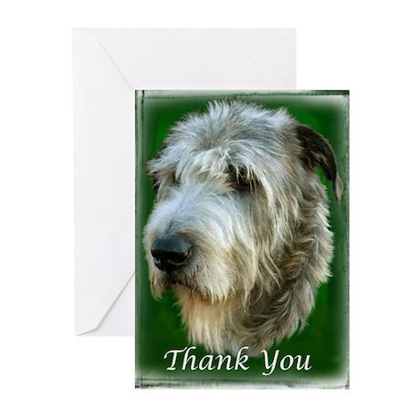 10 Irish Wolfhound Thank You Greeting Cards - #11