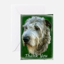 Irish Wolfhound Thank You Greeting Card - DS#11