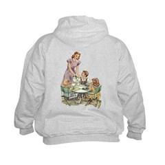 1940's Drink Milk for Lunch Hoodie