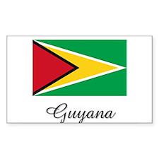 Guyana Flag Rectangle Decal