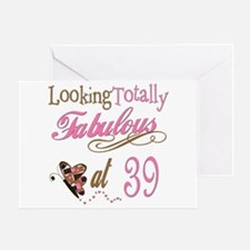 Fabulous 39th Greeting Card