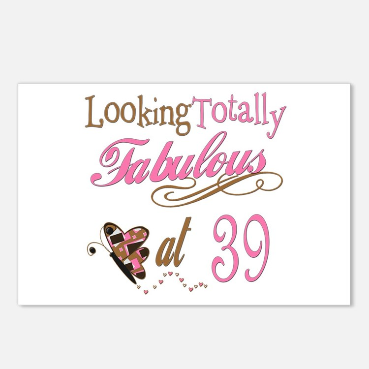 Fabulous 39th Postcards (Package of 8)