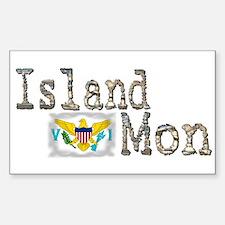 Island Mon - Rectangle Decal