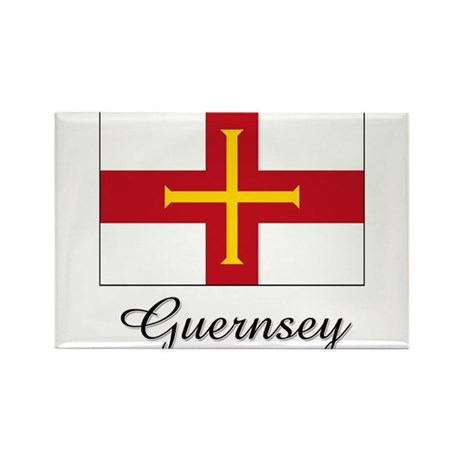 Guernsey Flag Rectangle Magnet (10 pack)