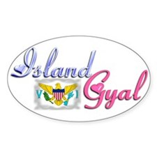 USVI Island Gyal - Oval Decal