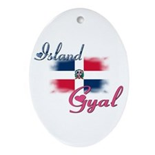 Island Gyal - Dominica Oval Ornament