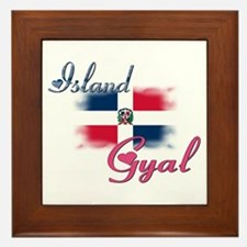 Island Gyal - Dominica Framed Tile