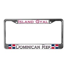 Dominican Rep. - Island Gyal - License Plate Frame