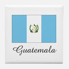 Guatemala Flag Tile Coaster