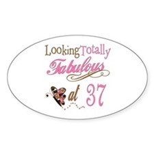 Fabulous 37th Oval Decal