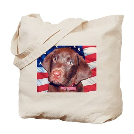 Patriotic Labrador Tote Bag