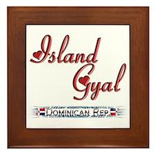 Island Gyal - Framed Tile