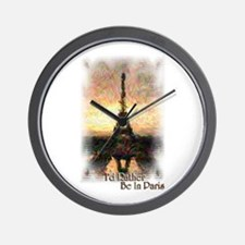 I'd Rather Be In Paris - Wall Clock