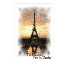 I'd Rather Be In Paris - Postcards (Package of 8)