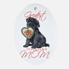 Kerry Blue Mom Oval Ornament