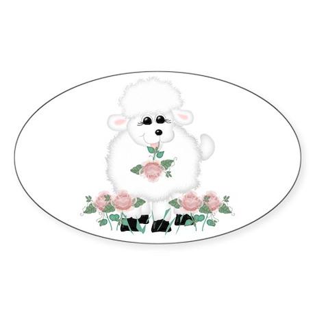 Bo Peep's Sheep Oval Sticker