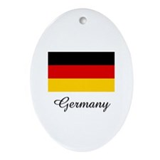 Germany Flag Oval Ornament