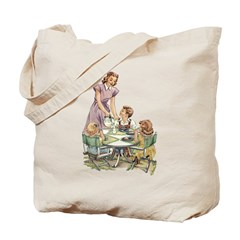 1940's Drink Milk for Lunch Tote Bag