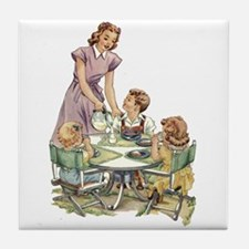 1940's Drink Milk for Lunch Tile Coaster