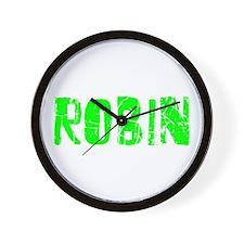 Robin Faded (Green) Wall Clock