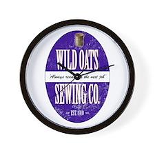 Wild Oats Sewing Co. Wall Clock