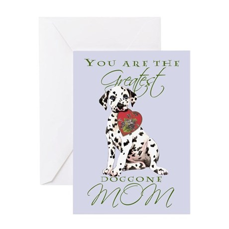 Dalmatian I Love Mom Greeting Card