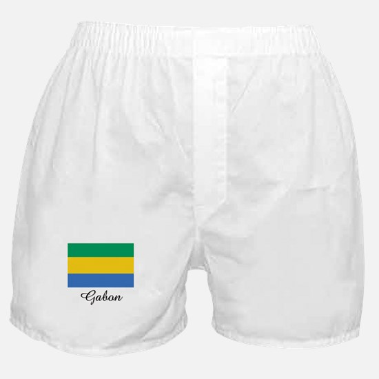 Gabon Flag Boxer Shorts