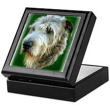 Irish Wolfhound Head Study Keepsake Box