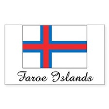 Faroe Islands Flag Rectangle Decal