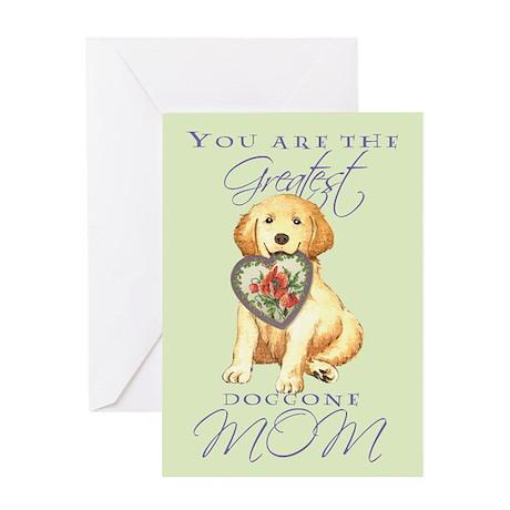 Golden I Love Mom Greeting Card