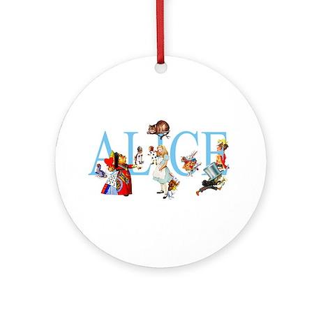 ALICE IN WONDERLAND & FRIENDS Ornament (Round)